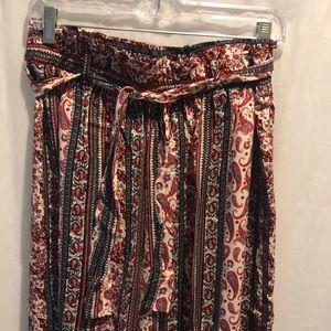 Pants - Red pattern pants